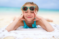 Adorable little girl on vacation Royalty Free Stock Photo