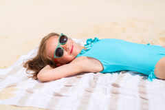 Adorable little girl on vacation Stock Image