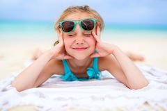 Adorable little girl on vacation Royalty Free Stock Image
