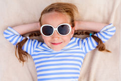 Adorable little girl on vacation Stock Photography