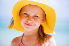 Adorable little girl on vacation Stock Images