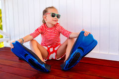 Adorable little girl on vacation Royalty Free Stock Images