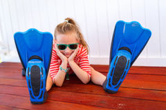 Adorable little girl on vacation Royalty Free Stock Photos