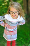 Adorable little girl wearing glasses Stock Photography