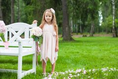 Adorable little girl at a wedding ceremony Royalty Free Stock Images