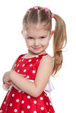 Adorable little girl on the white background Royalty Free Stock Photography