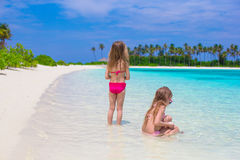 Adorable little girls having fun during beach Royalty Free Stock Photo