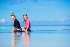 Adorable little girls having fun in outdoor Stock Images