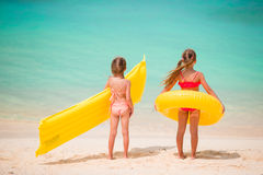 Adorable little girls during summer vacation Royalty Free Stock Image