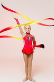 Adorable little gymnast Royalty Free Stock Images