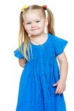 Adorable little round-faced girl with long blonde Royalty Free Stock Photography