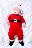 Adorable little santa baby Royalty Free Stock Image
