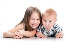Adorable little sisters Stock Images