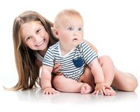 Adorable little sisters Stock Photo
