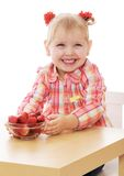 Adorable little smiling girl with small braided Royalty Free Stock Photo