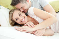 Adorable lovers having fun together Stock Image