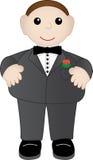 Adorable male in tuxedo Stock Photos