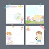 Adorable memo paper template design Stock Photo
