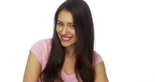 Adorable Mexican woman laughing and smiling Royalty Free Stock Photos