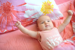 Adorable mighty baby Royalty Free Stock Photo