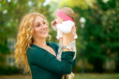 Adorable mother and baby Stock Photos