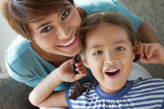 Adorable mother and daughter Royalty Free Stock Photography