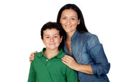 Adorable mother and her beautiful son Stock Image