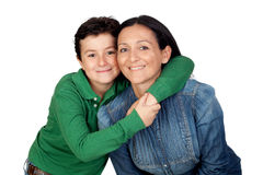 Adorable mother and her beautiful son Stock Photography