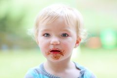 Adorable naughty little kid Royalty Free Stock Image