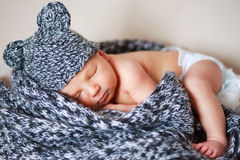 Adorable newborn baby Stock Images