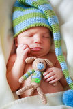 Adorable newborn baby stock image