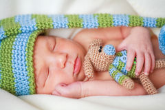 Adorable newborn baby stock photography
