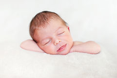 Adorable newborn baby Stock Image