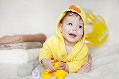 Adorable newborn baby Stock Photo