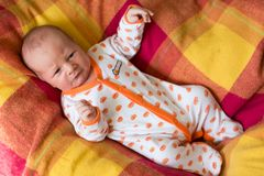 Adorable newborn baby crying Royalty Free Stock Images