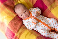Adorable newborn baby crying Stock Images
