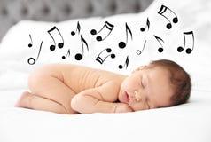 Adorable newborn baby sleeping royalty free stock photo
