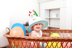 Adorable newborn portrait Stock Image