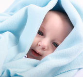 Adorable newborn portrait Stock Photos