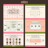 Adorable one page website template design Stock Images