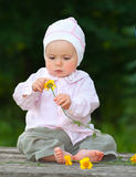 Adorable one-year baby Stock Photo