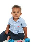 Adorable One Year Old African American Boy Royalty Free Stock Photos