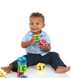 Adorable One Year Old African American Boy Stock Image