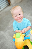 Adorable one year old boy. Close up. With blonde hair and blue eyes Royalty Free Stock Photos