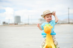 Adorable one year old boy Stock Images