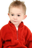 Adorable One Year Old Boy In Red Sweater Stock Photography