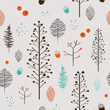 Adorable plant seamless pattern Royalty Free Stock Images