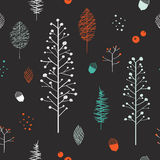 Adorable plant seamless pattern Royalty Free Stock Photos