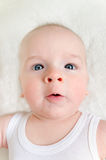 Adorable portrait of a cute baby Royalty Free Stock Images