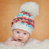 Adorable portrait of two months old baby stock photography
